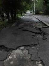 После дождя в Запорожье новая дорога